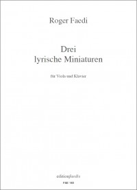 FAE140 • FAEDI - Drei lyrische Miniaturen - Score and part