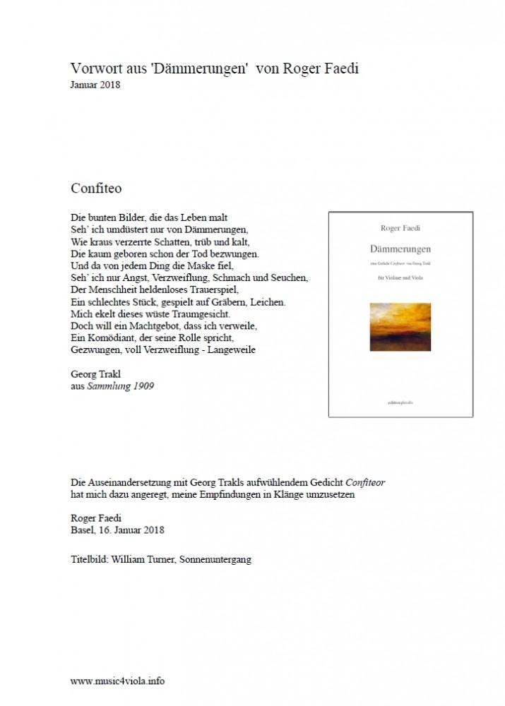 Dämmerungen, op. 78, für Violine und Bratsche