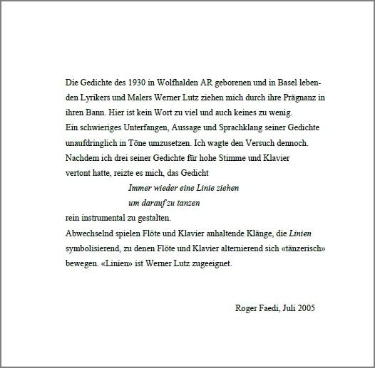 Linien, op. 7, für Flöte und Klavier