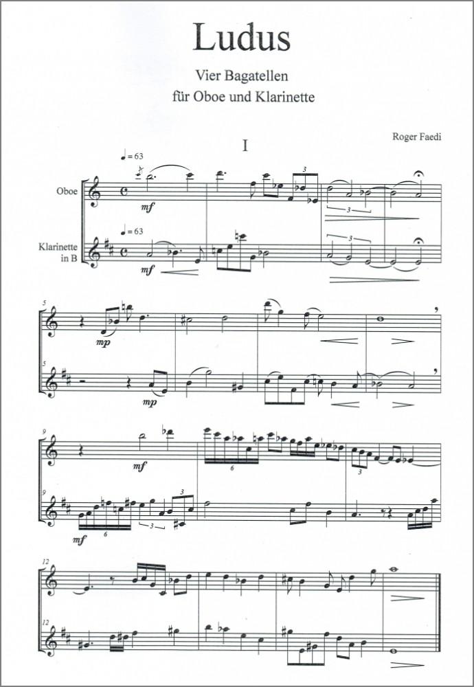 Ludus, op. 30a, für Oboe und Klarinette