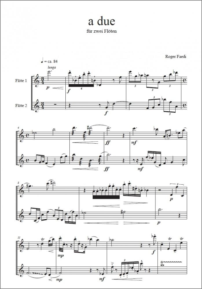 a due, op. 31, für Flöte und Oboe oder 2 Flöten