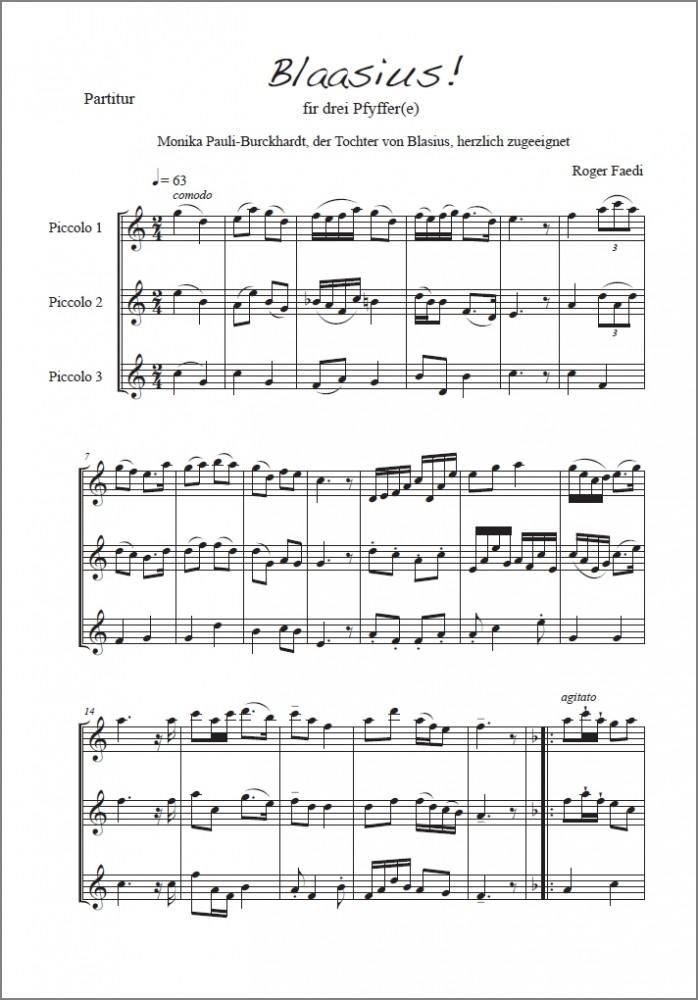 Zwei Fasnachtsstücke, op. 26, für drei Piccoli