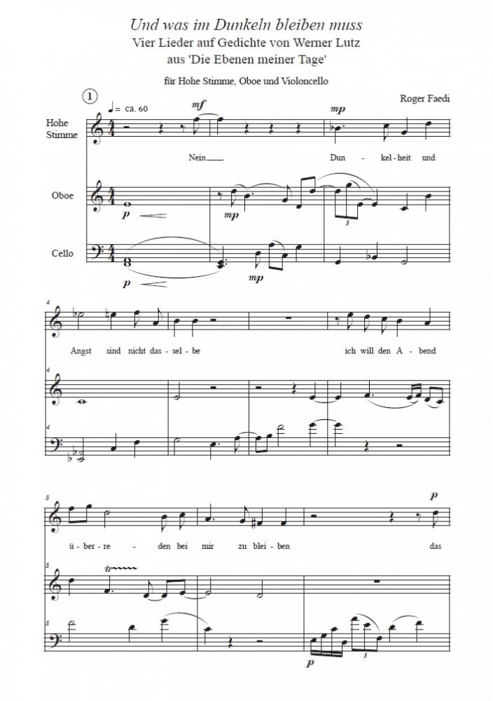 Und was im Dunkeln bleiben muss, op. 69, für hohe Stimme, Oboe und Violoncello