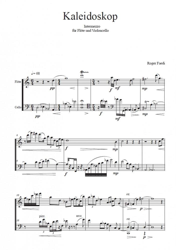 Kaleidoskop, op. 61, für Flöte und Violoncello